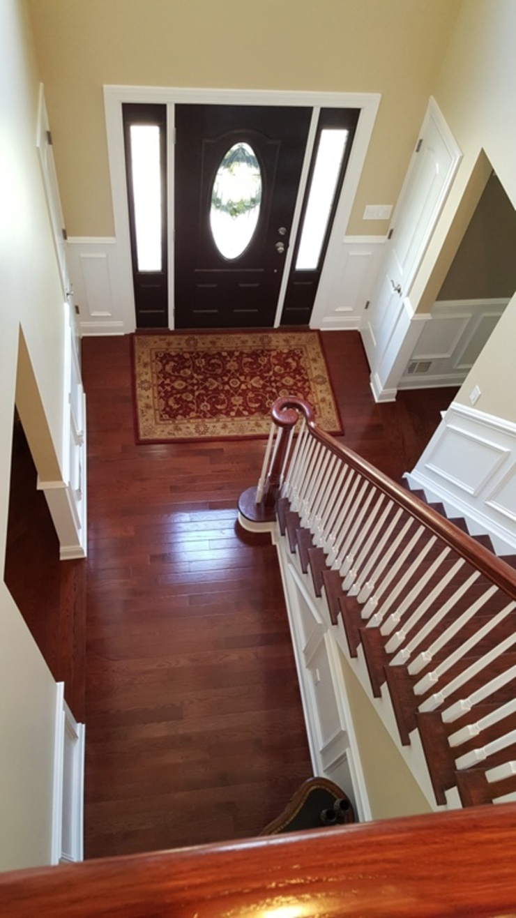 Pre-finished Oak Stairwell renovation by Shine Star Flooring Classic