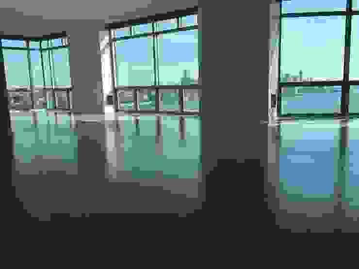 5' Engineered White Oak with Duraseal stain Modern Living Room by Shine Star Flooring Modern