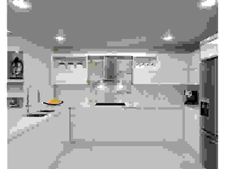 Diseño de Cocina Cocinas modernas de HoaHoa Espacios SAS Moderno Tablero DM