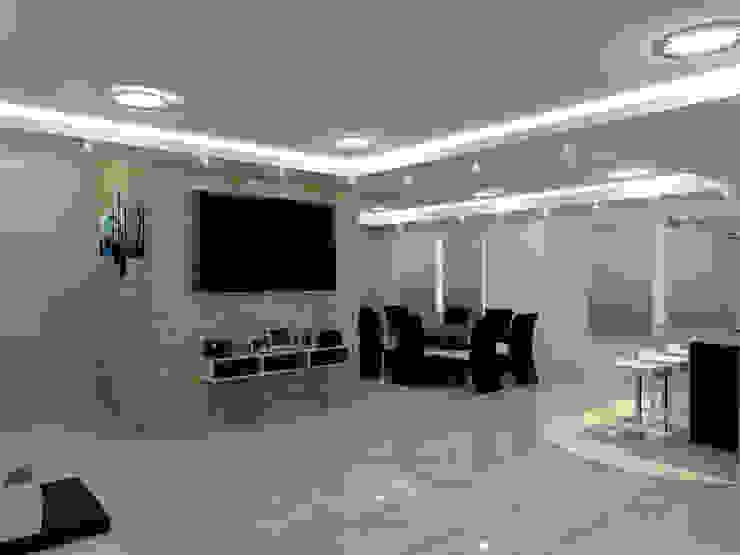 sala Salas modernas de HoaHoa Espacios SAS Moderno Derivados de madera Transparente
