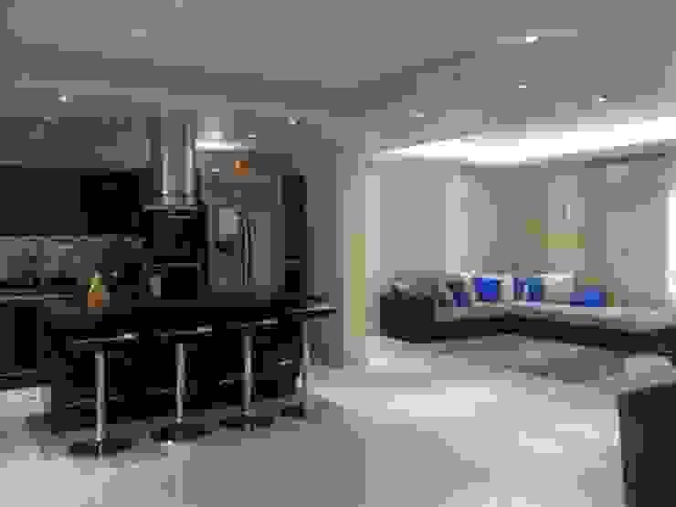 sala cocina Salas modernas de HoaHoa Espacios SAS Moderno Derivados de madera Transparente