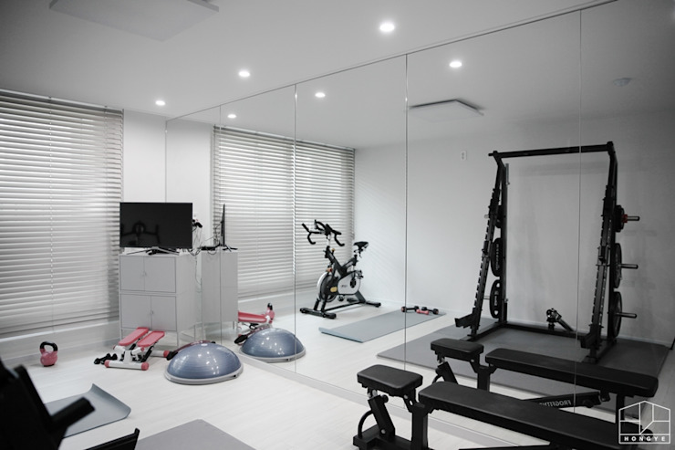 Scandinavian style gym by 홍예디자인 Scandinavian