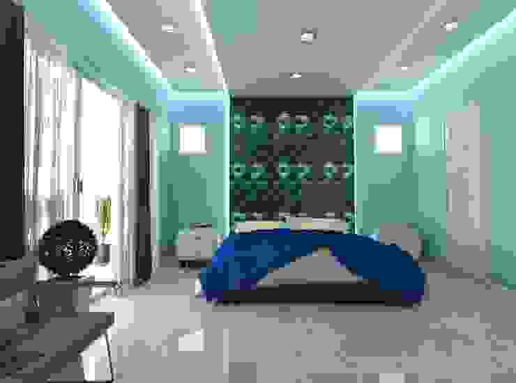 Blue Room Mediterranean style bedroom by Constantin Design & Build Mediterranean