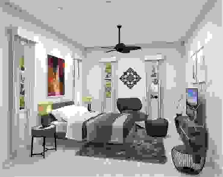 Casa Allea Guest Bedroom Constantin Design & Build Modern style bedroom White