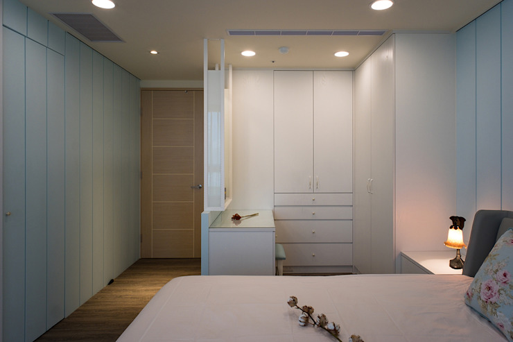 悠然 松泰室內裝修設計工程有限公司 臥室 合板 White