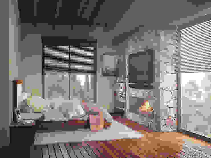 Casa en el Bosque - BCA Taller de Diseño Dormitorios de estilo moderno de BCA Taller de Diseño Moderno