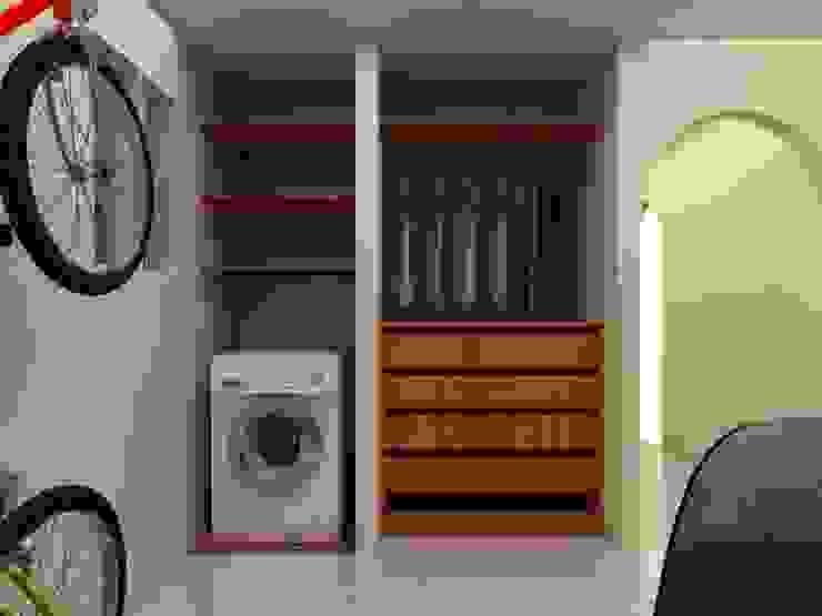 Habitacion Tipo Estudio y Closet habitacion principal Arq. Barbara Bolivar EstudioArmarios y estanterías