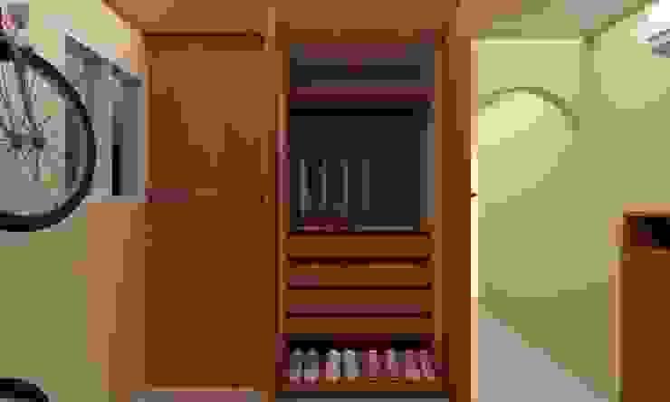 Habitacion Tipo Estudio y Closet habitacion principal Arq. Barbara Bolivar EstudioArmarios y estanterías Madera Acabado en madera