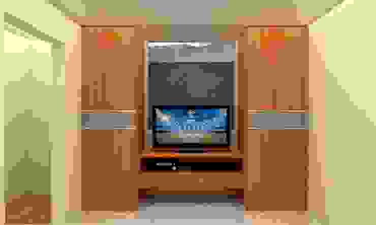 Habitacion Tipo Estudio y Closet habitacion principal Arq. Barbara Bolivar DormitoriosClósets y cómodas Madera Acabado en madera