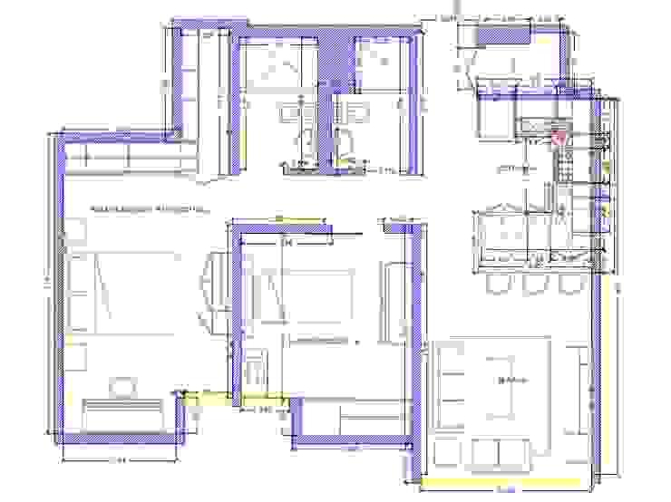 Remodelacion Interior Apartamento Caracas Arq. Barbara Bolivar Muebles de cocinas Acabado en madera