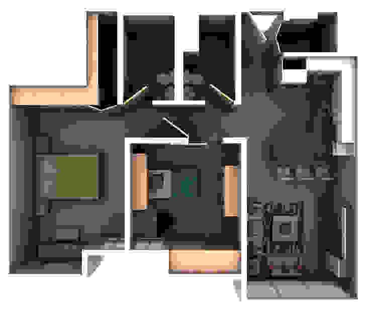 Remodelacion Interior Apartamento Caracas Arq. Barbara Bolivar Muebles de cocinas Madera Acabado en madera