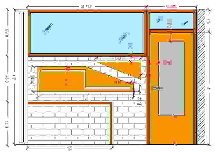 Diseño Mobiliario para oficina Oficinas de estilo moderno de Arq. Barbara Bolivar Moderno Madera Acabado en madera