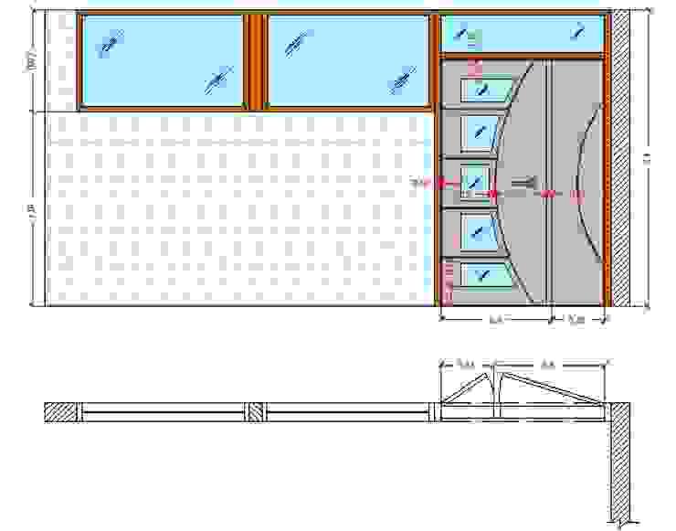 Diseño Mobiliario para oficina de Arq. Barbara Bolivar Moderno Madera Acabado en madera