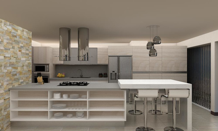 Kitchen units by Arq. Barbara Bolivar, Modern Wood Wood effect