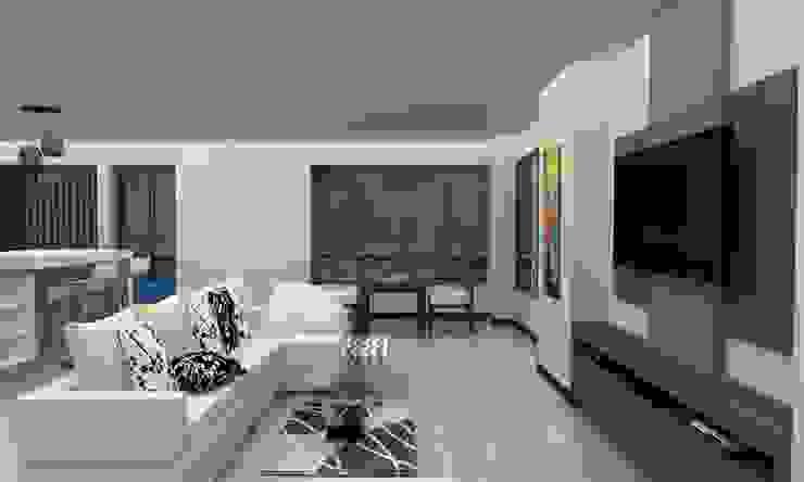 Modern Living Room by Arq. Barbara Bolivar Modern Wood Wood effect