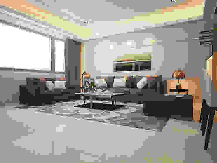 沙發區 现代客厅設計點子、靈感 & 圖片 根據 Hearts Interior Design 勁心設計研所 現代風 大理石