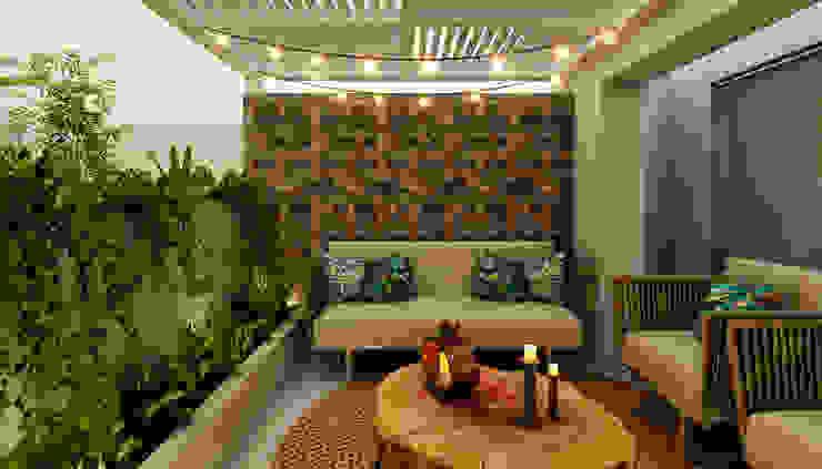 Modern style balcony, porch & terrace by Luis Escobar Interiorismo Modern