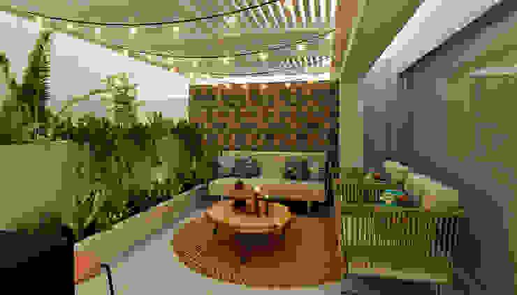 Balcones y terrazas modernos de Luis Escobar Interiorismo Moderno