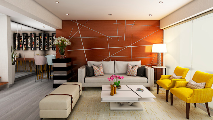 Modern Living Room by Luis Escobar Interiorismo Modern