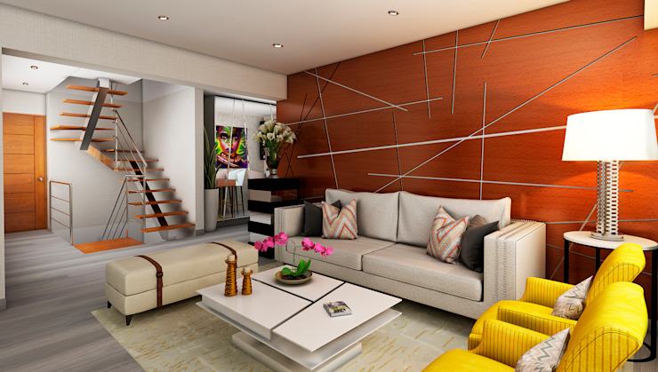 Proyecto JJ Salas modernas de Luis Escobar Interiorismo Moderno