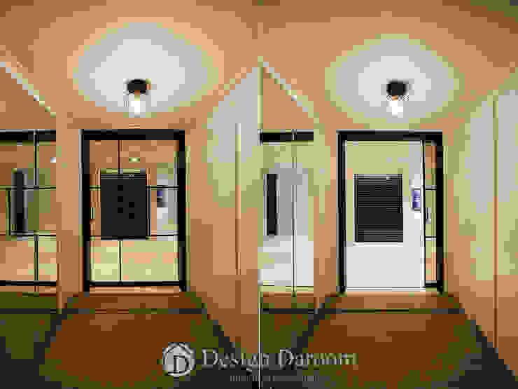 광장동 현대홈타운 12차 55평형 현관 모던스타일 복도, 현관 & 계단 by Design Daroom 디자인다룸 모던