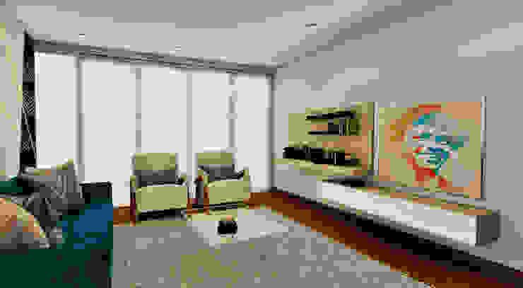 PROYECTO JG Salas modernas de Luis Escobar Interiorismo Moderno