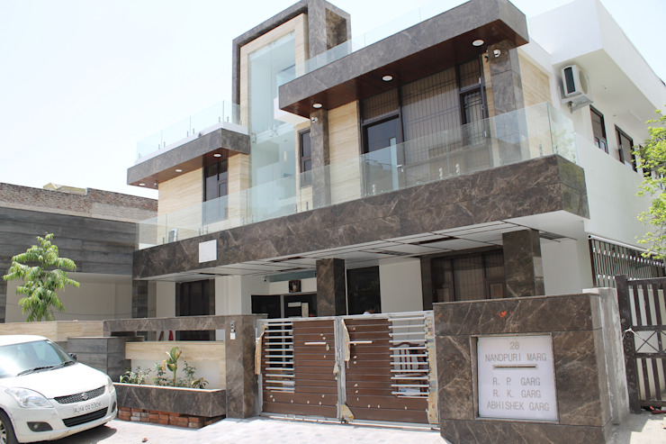 Garg Residence Modern houses by KHOWAL ARCHITECTS + PLANNERS Modern