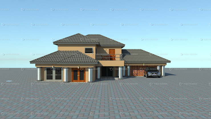 two storey house design by COMFORT MAYINGANI ARCHTECTZ