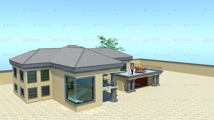 two storey house design by COMFORT MAYINGANI ARCHTECTZ