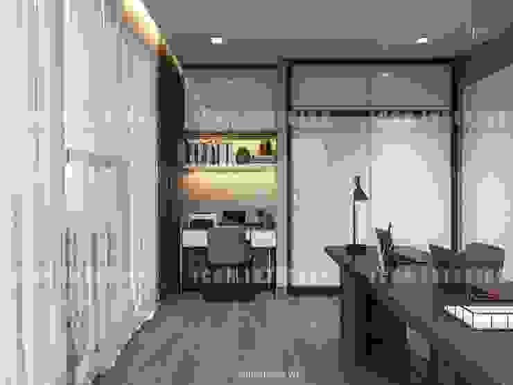 Vinhomes Golden River – Aqua 3 Phòng học/văn phòng phong cách hiện đại bởi ICON INTERIOR Hiện đại