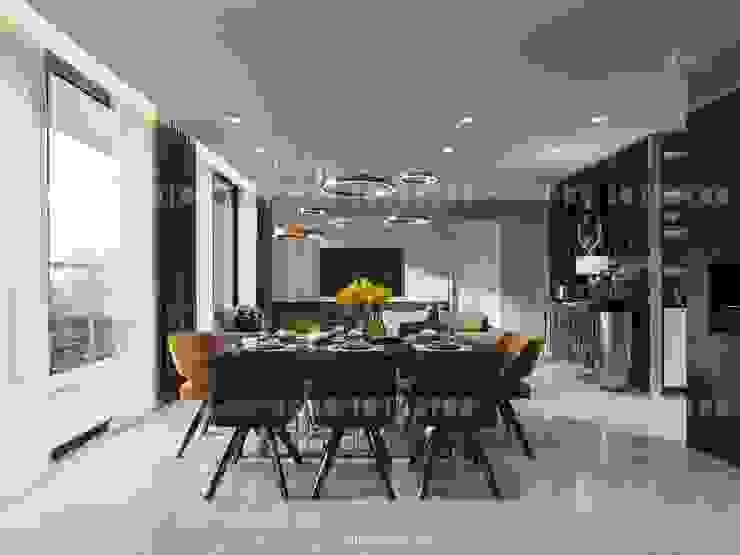 Vinhomes Golden River – Aqua 3 Phòng ăn phong cách hiện đại bởi ICON INTERIOR Hiện đại