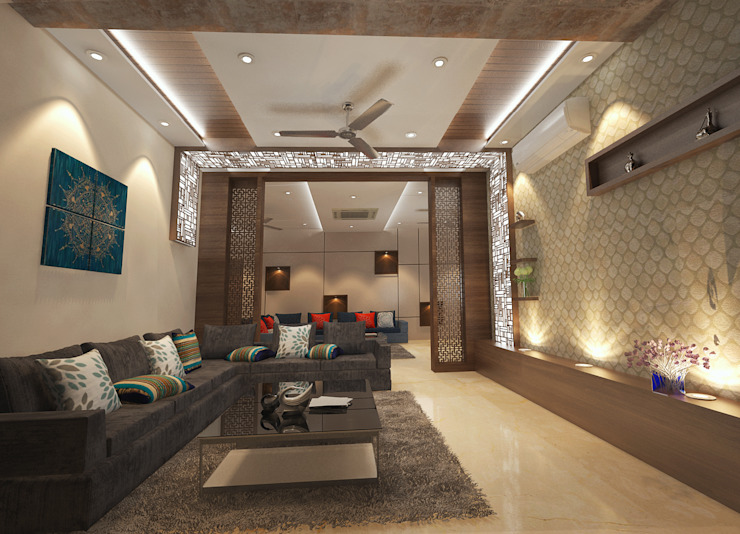 Residence-Pinjaniji Modern living room by KHOWAL ARCHITECTS + PLANNERS Modern