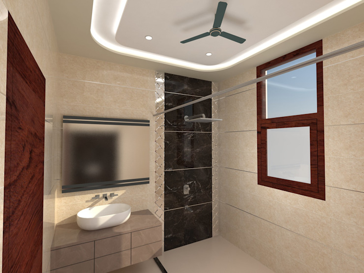 Residence-Pinjaniji KHOWAL ARCHITECTS + PLANNERS Modern bathroom