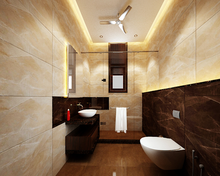 Modern style bathrooms by KHOWAL ARCHITECTS + PLANNERS Modern