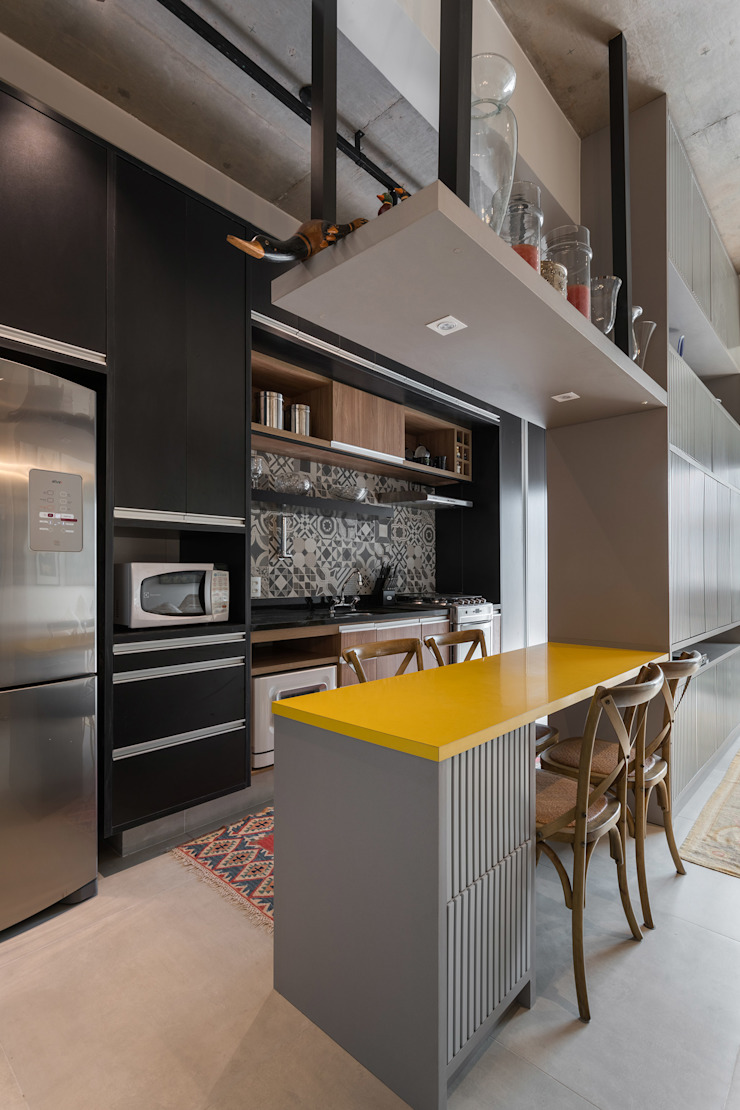 Studio Ideação Unit dapur MDF Grey