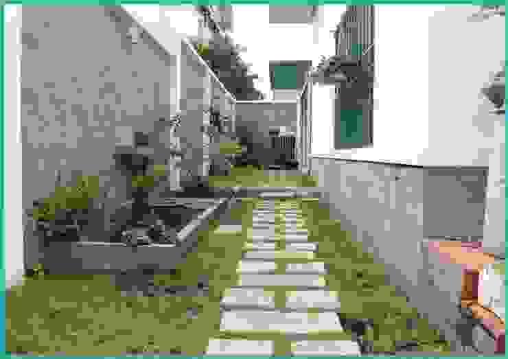 Mẫu thiết kế biệt thự phố 2 tầng đơn giản trên nền đất không quá rộng bởi CÔNG TY THIẾT KẾ XÂY DỰNG AN LĨNH