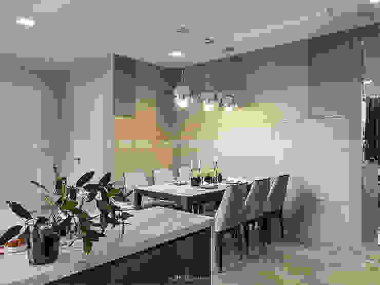 AQUA 4 VINHOMES GOLDEN RIVER – DESIGNED BY ICON INTERIOR Phòng ăn phong cách hiện đại bởi ICON INTERIOR Hiện đại
