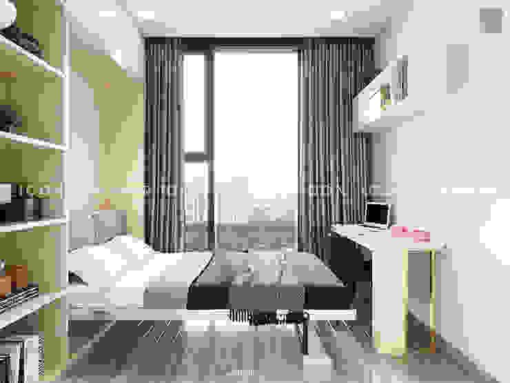 AQUA 4 VINHOMES GOLDEN RIVER – DESIGNED BY ICON INTERIOR Phòng ngủ phong cách hiện đại bởi ICON INTERIOR Hiện đại