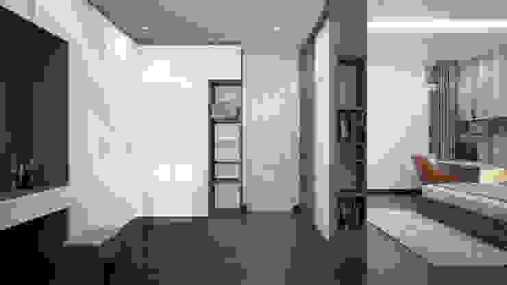 NHÀ PHỐ TẠI HUẾ Phòng ngủ phong cách châu Á bởi DCOR Châu Á