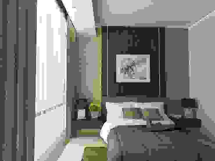 BEDROOM 01 - ASCCOT APARTMENT, KUNINGAN-JAKARTA Kamar Tidur Minimalis Oleh spacious.interiordnb Minimalis Kayu Buatan Transparent