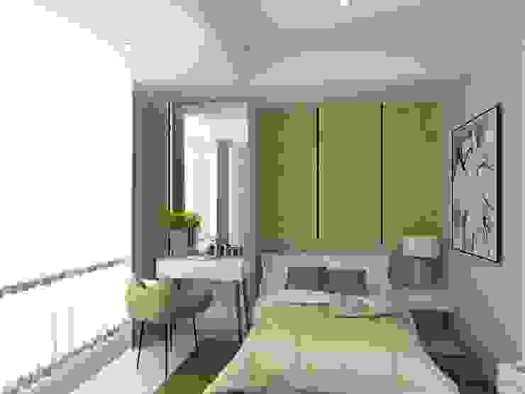 BEDROOM 02-ASCCOT APARTMENT, KUNINGAN-JAKARTA Kamar Tidur Minimalis Oleh spacious.interiordnb Minimalis Kayu Buatan Transparent