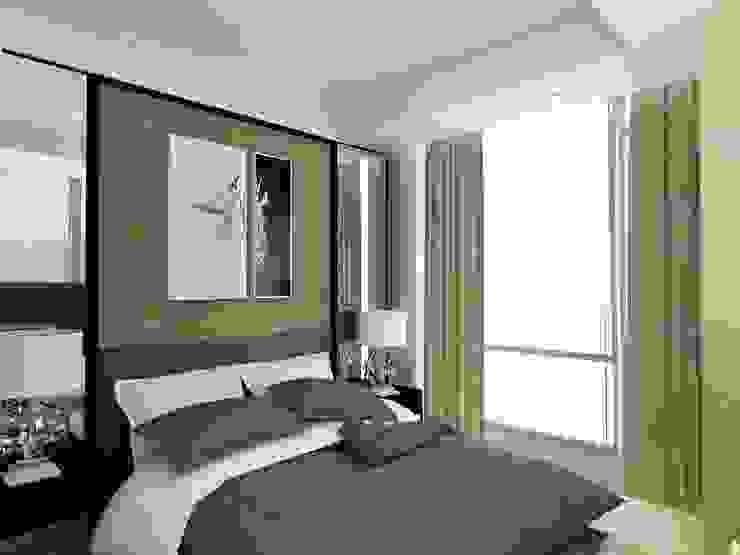 MASTER BEDROOM-ASCCOT APARTMENT, KUNINGAN-JAKARTA Kamar Tidur Minimalis Oleh spacious.interiordnb Minimalis Kayu Buatan Transparent