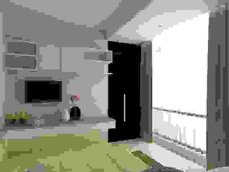 BEDROOM 02-ASCCOT APARTMENT, KUNINGAN-JAKARTA Kamar Tidur Minimalis Oleh spacious.interiordnb Minimalis