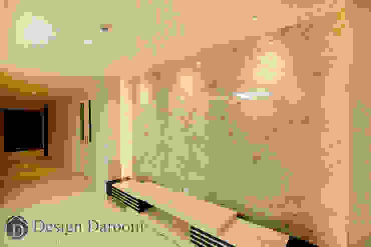광장동 현대홈타운 12차 55평형 거실 아트월 모던스타일 거실 by Design Daroom 디자인다룸 모던