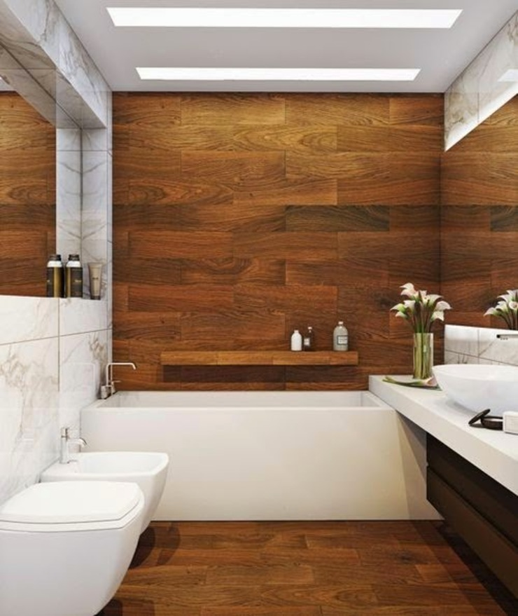 Drevo - Wood Solutions Lda Minimalist bathroom
