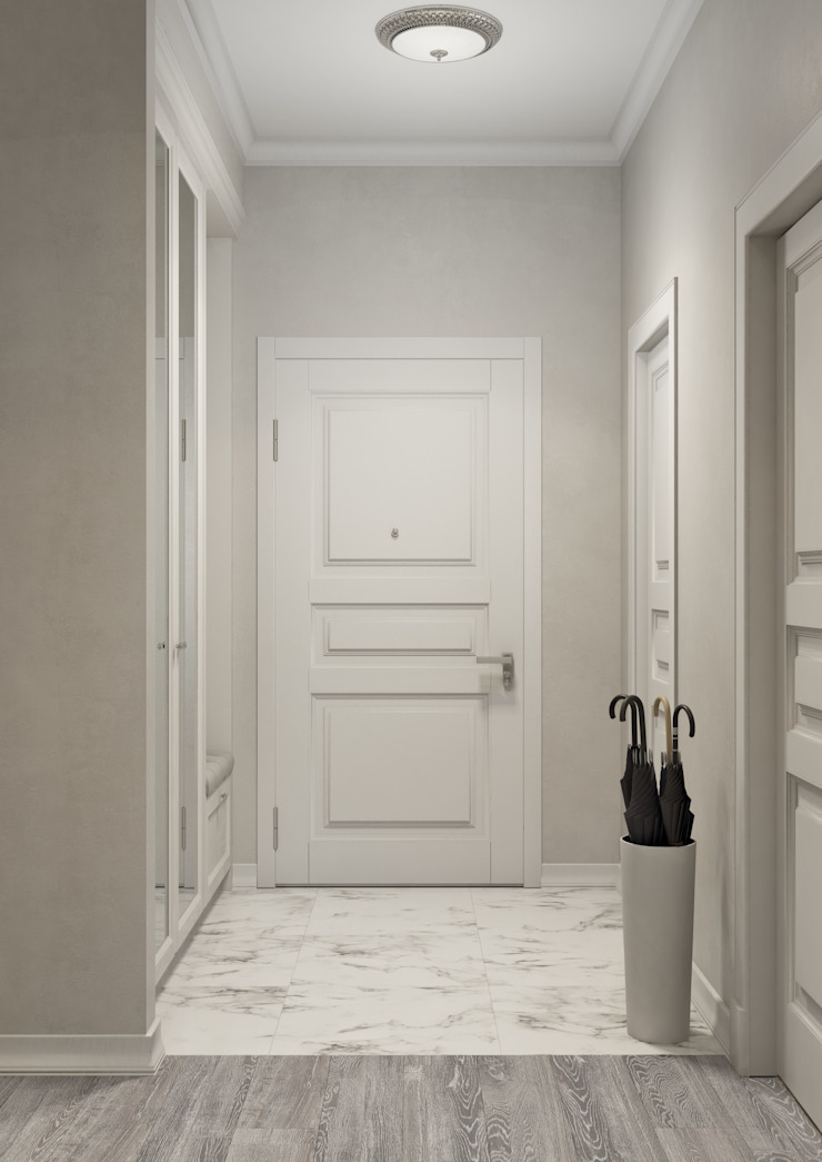 Classic style corridor, hallway and stairs by Вира-АртСтрой Classic