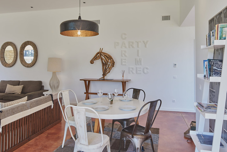 zona de refeições isabel Sá Nogueira Design Salas de jantar modernas
