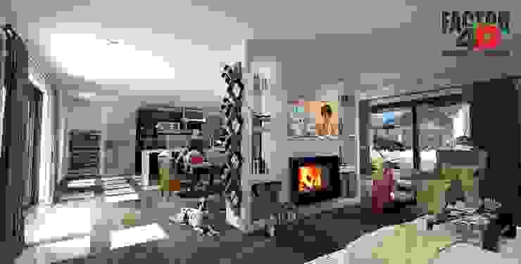 Factor4D - Arquitetura, Engenharia & Construção Modern Living Room