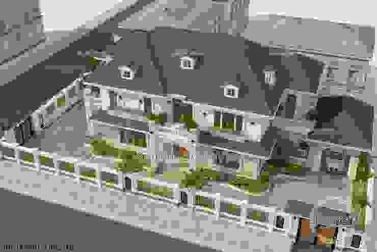 Phối cảnh mẫu thiết kế biệt thự đẹp 2 tầng Hiện đại (CĐT: Ông Tùng - Thanh Hóa) KT16090 bởi Công Ty CP Kiến Trúc và Xây Dựng Betaviet