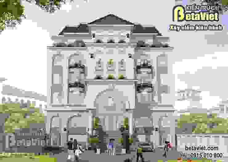 Phối cảnh mẫu thiết kế dinh thự Tân cổ điển 7 tầng đẹp hoành tráng (CĐT:Ông Bình - Hải Phòng) BT14425 bởi Công Ty CP Kiến Trúc và Xây Dựng Betaviet